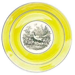 Vintage German Mottahedah Bird By the Lake Plate For Sale