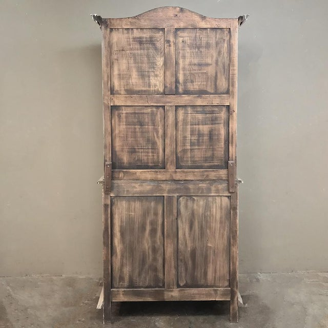 19th Century Country French Louis XVI Stripped Bookcase ~ Vitrine For Sale - Image 12 of 13
