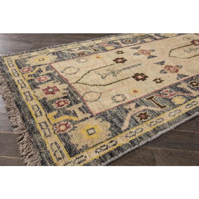 "Textile Apadana Oushak Runner Rug - 2'6"" x 16' For Sale - Image 7 of 7"
