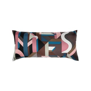 """Perspective Cavaliere"" Hermès Silk Scarf Pillow For Sale"