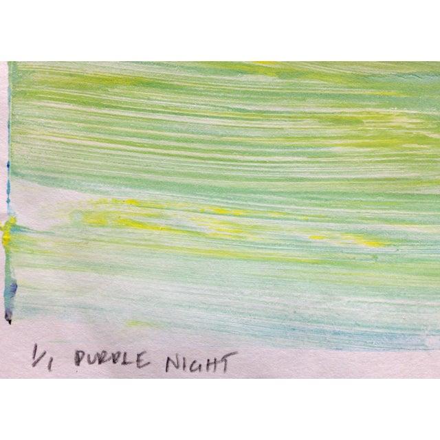 """Purple Night"" Handmade Ocean Print, 2016 - Image 2 of 4"