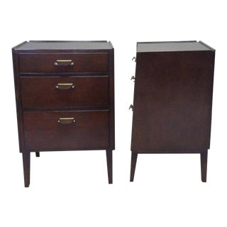 Pair of Edward Wormely for Dunbar Angle Front Nightstands For Sale