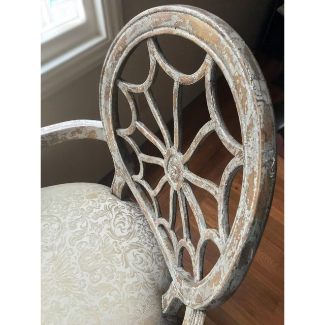 Green Distressed Side Dining Chair - Image 10 of 11