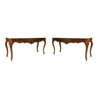 19th Century Victorian Serpentine Front Console Tables - a Pair For Sale