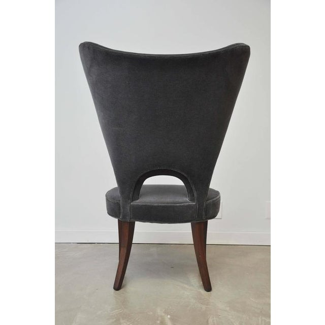 """Mid-Century Modern Edward Wormley """"Heart Chair"""" Wingback for Dunbar For Sale - Image 3 of 8"""