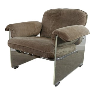 1970s Vintage Pace Collection Lucite Club Chair For Sale