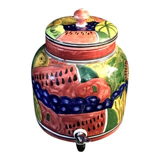 Talevera Mexican Water Crock