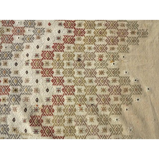 """Vintage Turkish Natural Kilim Runner-2'9'x10'11"""" For Sale - Image 11 of 13"""