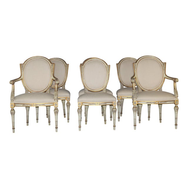 Karges Neoclassical Style Dining Chairs - Set of 6 - Image 1 of 6