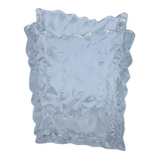 Rosenthal Studio Line Crystal Bag Vase For Sale