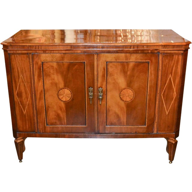 Very Fine English Inlaid Server / Bar For Sale