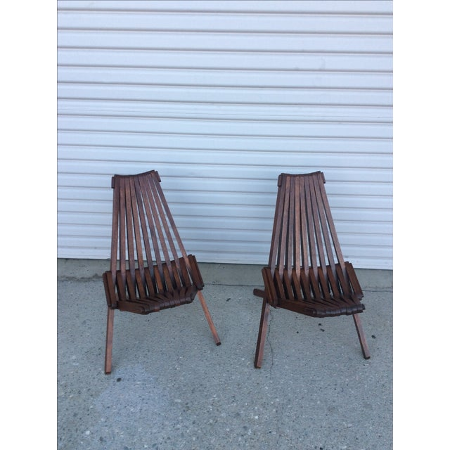 Beach Folding Chairs - A Pair - Image 4 of 11