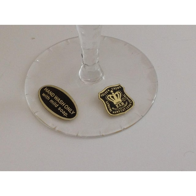 Ebeling-Reuss Cut Crystal Sherry or Small Wine Glasses - S/8 For Sale - Image 6 of 6