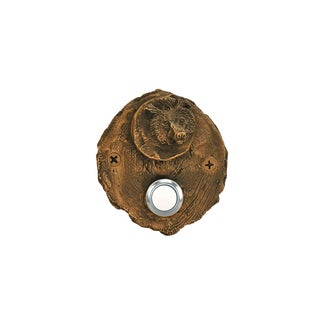 Log End Bear Doorbell with Traditional Patina For Sale
