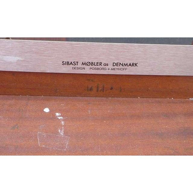 Sibast Møbler Modern Custom Rosewood Executive Desk Suite For Sale - Image 4 of 7