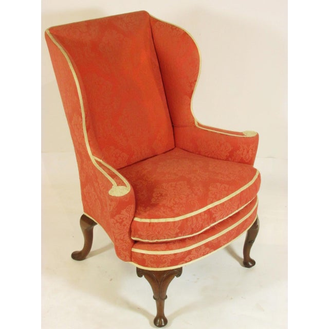 Late 19th Century George II Style Wing-Back Chairs - a Pair For Sale - Image 4 of 12