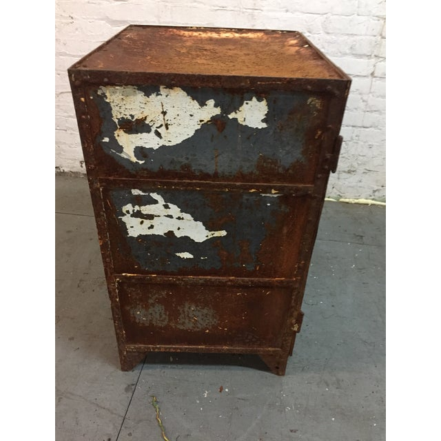 Industrial Iron cabinet For Sale - Image 3 of 6