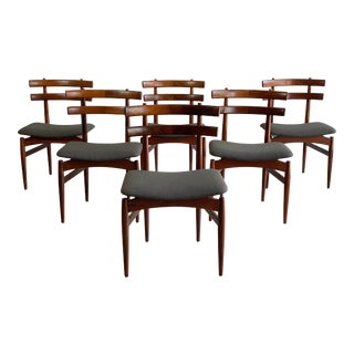 Rosewood Danish Dining Chairs by Poul Hundevad - Set of 6 For Sale