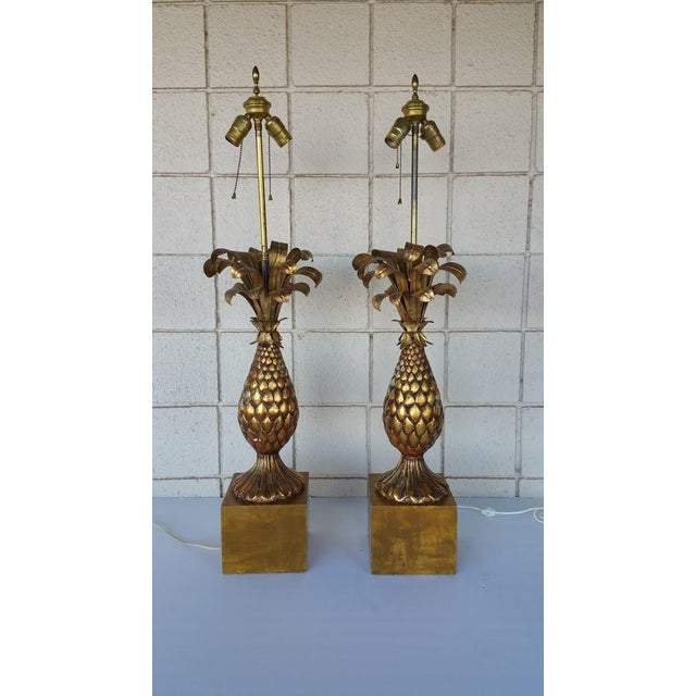 Vintage Pineapple Lamp - A Pair For Sale - Image 5 of 5