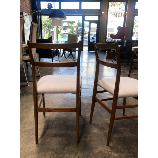 Chestnut 1950s Gio Ponti Superleggera Dining Chairs - a Pair For Sale - Image 8 of 9