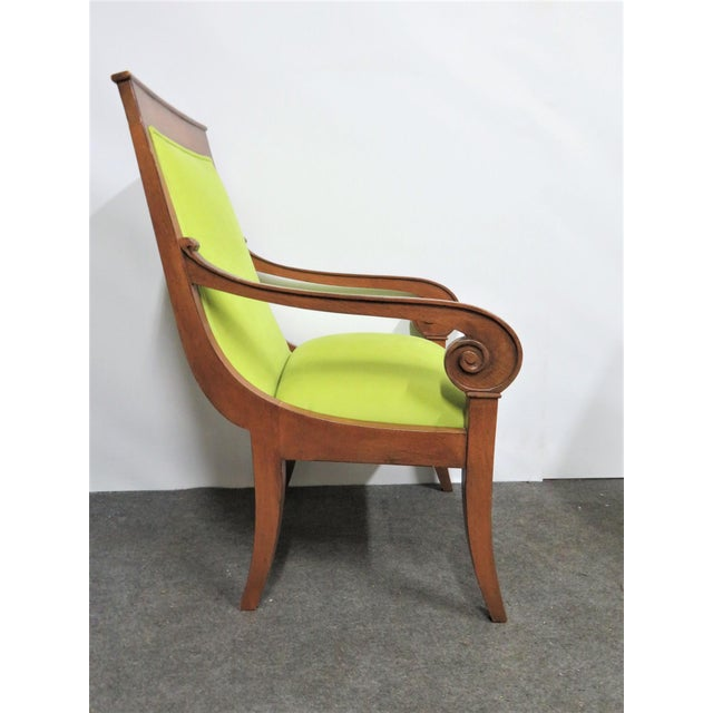 Lime Ethan Allen Regency Style Chairs- a Pair For Sale - Image 8 of 11