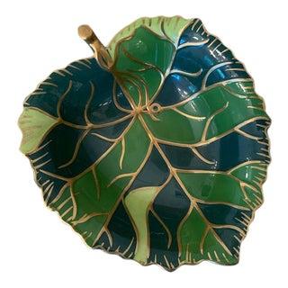 Lynn Chase Jaguar Jungle Leaf Bowl For Sale
