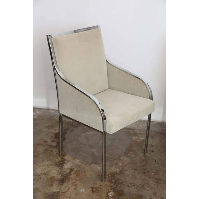 S/6 Mid Century Modern Chrome and Upholstery Pierre Cardin Dining Chairs / Side Chairs - Image 8 of 12