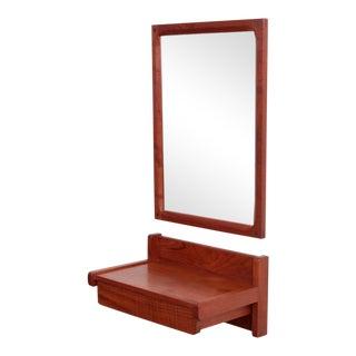 Aksel Kjersgaard Set of Mirror and Drawer in Teak for Odder Denmark For Sale