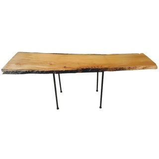 Live Edge Red Oak Coffee Table For Sale