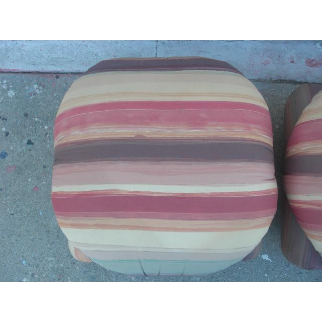1980s Vintage Upholstered Poofs- A Pair For Sale In Los Angeles - Image 6 of 13