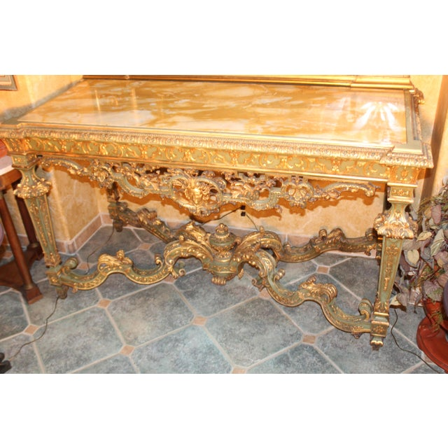 Massive Late 19 C. French console table. Came from 2220 Broadway St. in San Francisco which used to be the flood house we...