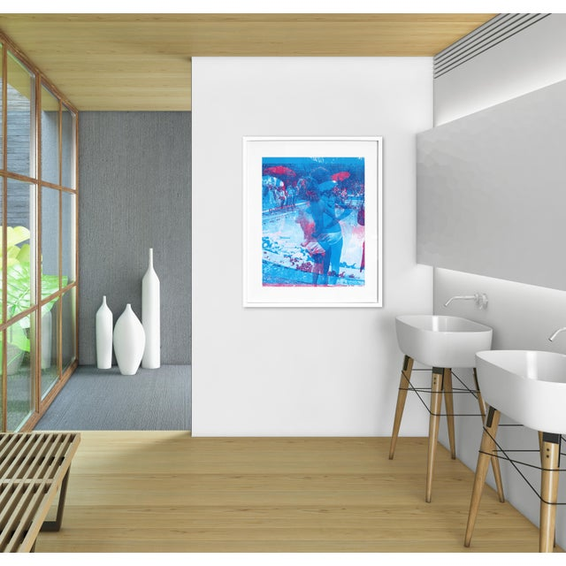 """Blue Swimming Pool"" Original Artwork by Marco Pittori For Sale - Image 9 of 9"