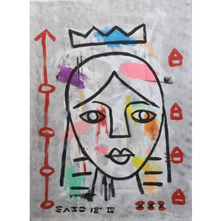 """Lady Like"" Original Acrylic Painting Artwork by Gary John For Sale"