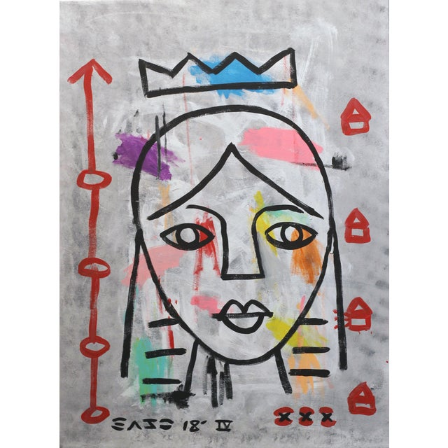 """Lady Like"" Original Acrylic Painting by Gary John For Sale"