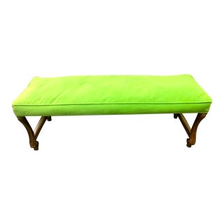 Mid 20th Century Bright Green John Widdicomb Bench For Sale