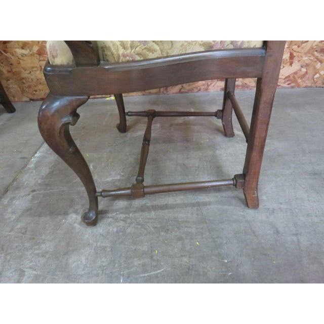Italian Queen Anne Style Dining Chairs - Set of 6 For Sale - Image 5 of 8
