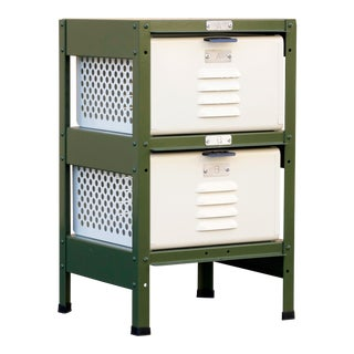 1 X 2 Locker Basket Unit, Vintage Inspired and Newly Fabricated to Order For Sale