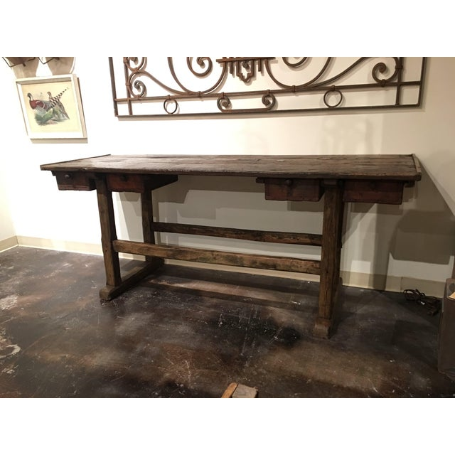 French 20th Century French Country Work Table For Sale - Image 3 of 14