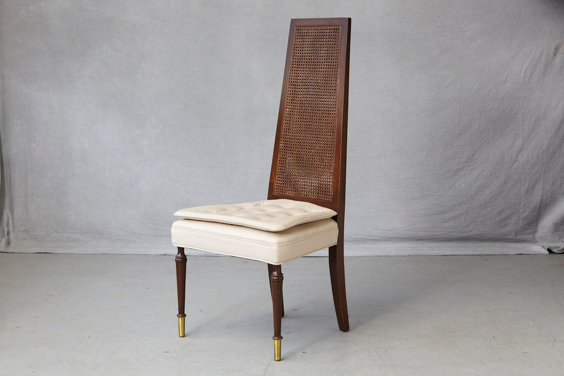 Exceptionnel High Back Desk Or Side Chair With A Double Sided Rattan Back And A Double