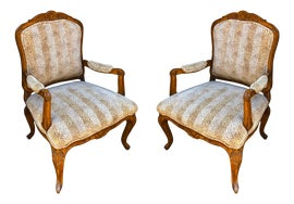 Image of French Provincial Bergere Chairs