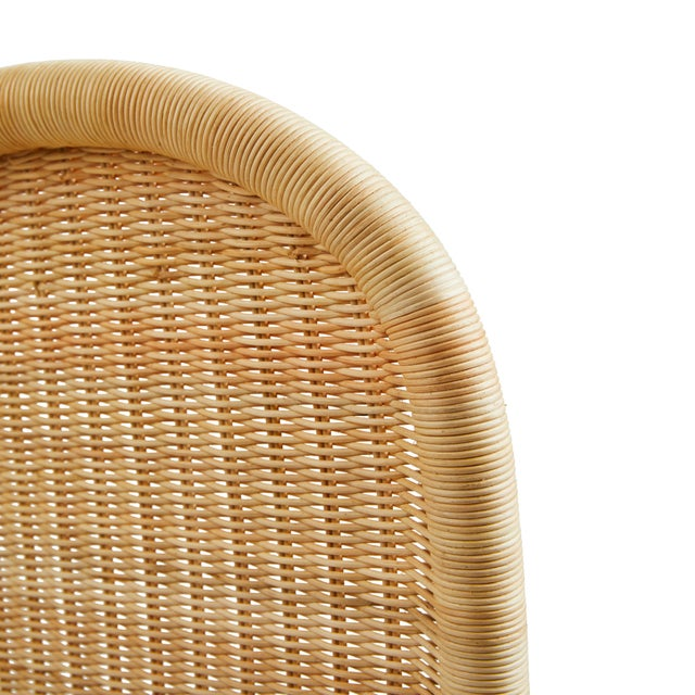Beige Linton Scalloped Rattan Side Chairs, Set of 2 For Sale - Image 8 of 12