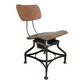 Vintage Industrial Toledo Drafting Side Chair