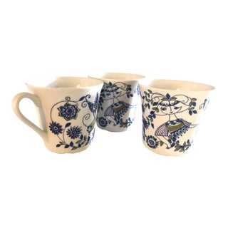 Mid-Century Figgjo Norway Lotte Teacups Cups by Turi Gramstad Oliver--Set of 3 For Sale