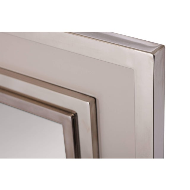 Large Chromed Maison Jansen Mirror For Sale - Image 6 of 8