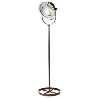 Mid-Century Modern Industrial Metal Floor Lamp From England For Sale