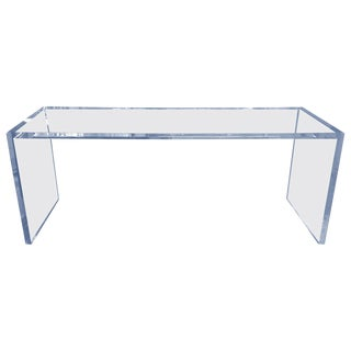 Beautiful Lucite Console Table by Cain Modern For Sale