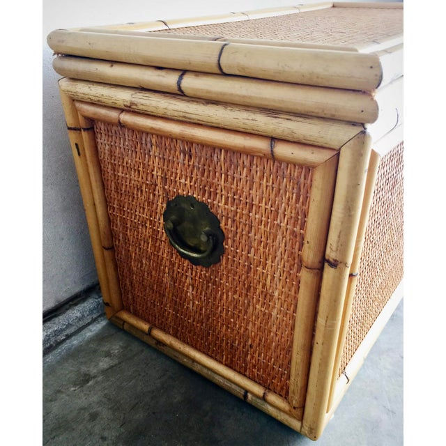 Vintage Bamboo Trunk Blanket/Toy Chest - Image 8 of 8