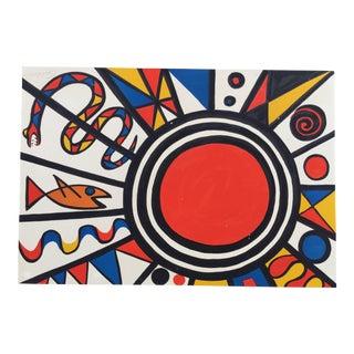 Alexander Calder Sun, Snake and Fish C. 1970 Litho For Sale