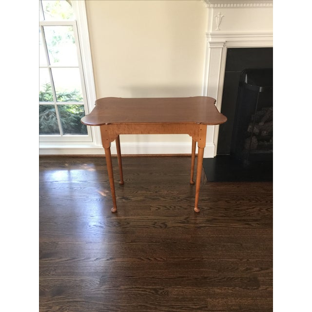 18th C. Antique Reproduction Wood Side Table - Image 2 of 4