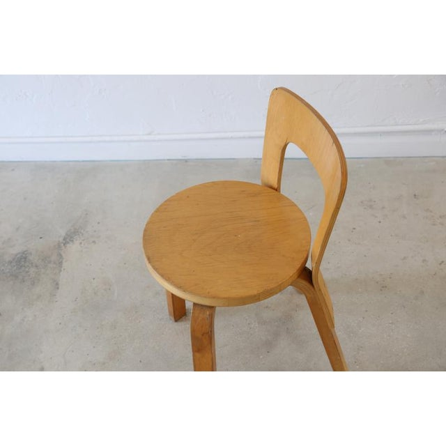 Mid 20th Century Alvar Aalto for Artek Birchwood Chair 65 For Sale - Image 5 of 8